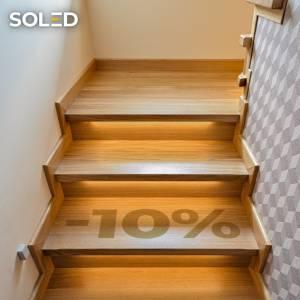Oferta specjalna! 📣 Teraz przy zakupie zestawu oświetlenia schodów i dowolnego sterownika SCR - 1️⃣0️⃣% zniżki na całe zamówienie!  Oferta ważna dla zamówień z konfiguratora.  #soled #soledpl #schody #podświetlaneschody #led #schodyled #oswietlenieled #oświetlenie #oświetleniewnętrza #ledlights